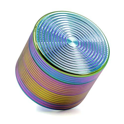 MASII Molinillo De Tabaco Color Azul Hielo Arco Iris 4 Capas Aleación De Zinc Hilo Molinillo De Hierbas Diámetro 50 Mm