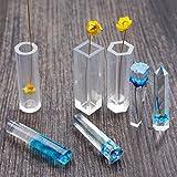 Moulessilicone Bijoux pour Fabrication Pendentif en Résine Diy Cylindre/Cube/Hexagone - Cylindre, 3