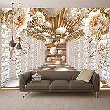 3D Wallpaper Modern Abstract Art Roma Colonna Fiore Foto Murales Soggiorno Studio Sfondo Carta Da Parati Home Decor 3D Affresco Personalizza Qualsiasi Dimensione(W)400X(H)280Cm