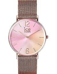 9a7b298d28b2e Ice-Watch IC016025 Montre Ice Sunset Femme Rose Acier