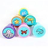 Sellos de plástico para niños con diseño de Dibujos Animales, 6 Unidades