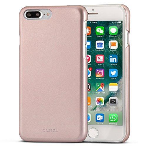 Cover-CASEZA-iPhone-7-Plus-Rio-oro-rosa-Ultra-sottile-custodia-posteriore-con-finitura-in-gomma-opaca-Protettiva-gommata-rigida-Aspetto-e-sensazione-di-qualit-per-iPhone-7-Plus-originale