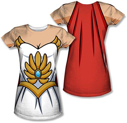 She-Ra Princess of Power Damen Sublimation Kostüm T-Shirt (X-Large)