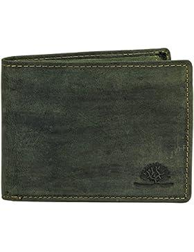 Greenburry VINTAGE 1705B Monedero de piel para hombre, billetera, monedero