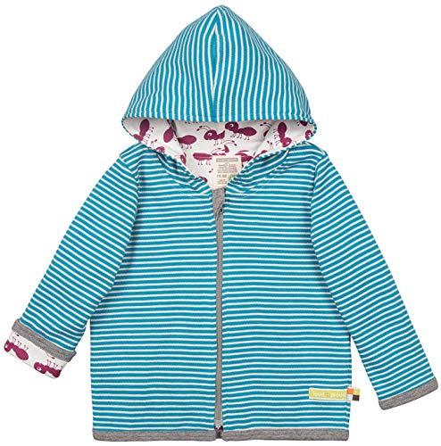 loud + proud Unisex Baby Wendejacke aus Bio Baumwolle, GOTS Zertifiziert Jacke Blau (Petrol Pe), Herstellergröße: 62/68