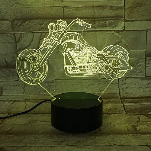 Luci notturne per moto Luci per cambio colore Grandi ruote Moto da corsa Luci portatili Amici Bambini Bambini Compleanno