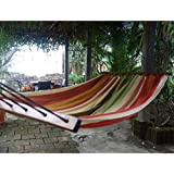"""HAMMOCK """"AMAZONAS"""" WITH POLE - UP TO 120KG - COTTON HAND MADE - FAIR TRADE (Variation 11)"""