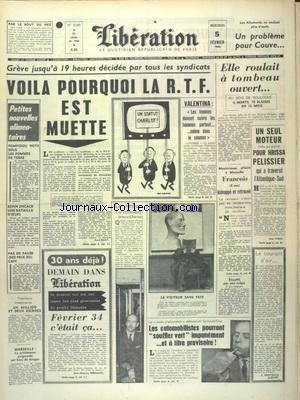 LIBERATION [No 6045] du 05/02/1964 - LES CONFLITS ...