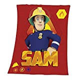 Herding Fleecedecke Feuerwehrmann Sam, Polyester, Rot, 150 x 125 cm