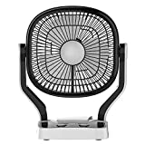 Impex Breeze-D1 Solar Rechargeable Fan with LED Light Dual Speed Mode 3 Blade