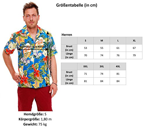 Pacific Legend | Original Hawaiihemd | Herren | S - 4XL | Kurzarm | Front-Tasche | Hawaii-Print | Papagei Blumen Hochzeit | Weiß Weiß