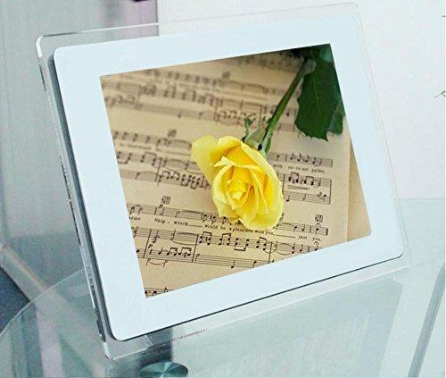 Acryl LED HD Digital Photo Frame Multimedia Unterstützung Musik und Video Playback SD Speicherkarte & Fernbedienung für alle Geschenke Gelegenheiten , white , 13 - - Multimedia-digital-speicher
