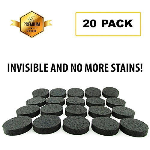 Invisible Flower Pot Risers / Feet 2018 Edition – 20 PACK – 100% Recycled Rubber, Small and Discrete, Non Slip Plant Pot Risers