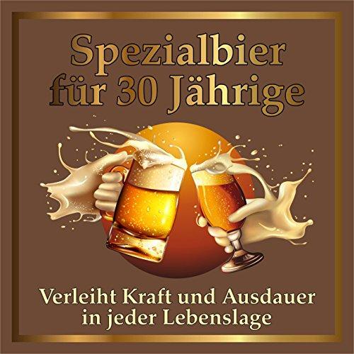 10 St. Original RAHMENLOS® Design: Selbstklebendes Bier-Flaschen-Etikett zum 30. Geburtstag.
