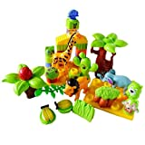#7: FunBlast® Happy Zoo Education Kingdom Blocks for kids, Set 36 pcs playset, Bag Packing, Best Gift Toy, Multicolor (Set Of 36 Pcs)