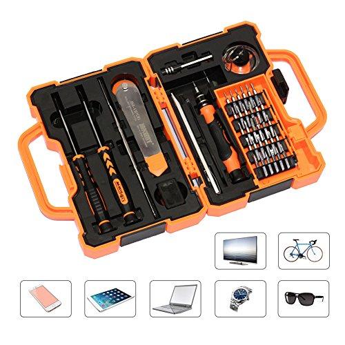 NOVATA-45 en 1 destornillador magnético kit de herramientas de reparación set de herramientas Kit de destornilladores con caja portátil para iPhone/Plus/Samsung Galaxy / Tab/Tablet/PC/Macbook/iPad y otros aparatos electrónicos Juego de destornilladores,herramienta de ferretería
