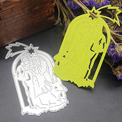 SULIFORSULIFOR Prägestempel Happy Halloween Metal Cutting Dies Schablonen Scrapbooking Prägung DIY Handwerk