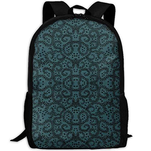 HOJJP Schultasche Halloween and Vine School Bookbags for Teens, Backpack College Bags Young People Daypack (Teens Halloween-outfits Für)