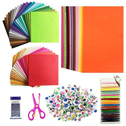 Wartoon Filzstoff Bastelfilz Filz Blätter Polyester Felt Fabric DIY Stoff filzplatten, 20 x 30 und 15 x 15cm