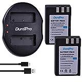 DuraPro 2Pcs 1800mAh en-EL9 EN-EL9a Rechargeable Li-ION Battery + Dual USB Charger for Nikon D40 D40x D60 D3000 D5000 Digital Cameras