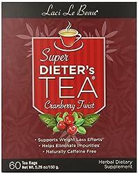 Laci Le Beau Super Dieter's Tea, Cranberry Twist, 60-Count Box (Pack of 2)