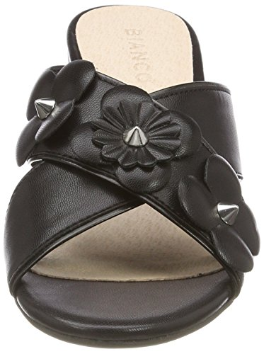 Bianco Flower Cross Sandal, Mules Femme Schwarz (Black)