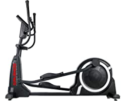 Sparnod Fitness SET-410 Commercial Elliptical Cross Trainer Machine 16 Level Resistance with Pulse Rate and LCD Monitor
