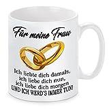 """Lieblingsmensch Tasse Modell """" Ich liebte dich damals... - Frau"""", Keramik, Weiß, 11"""
