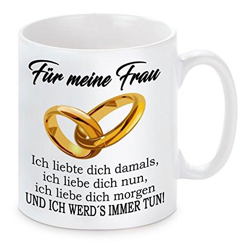 """Lieblingsmensch Tasse Modell """" Ich liebte dich damals... - Frau"""", Keramik, Weiß, 11 x 11 x 11 cm, 1 Einheiten"""