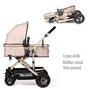 YSH Travel System Baby Stroller Pushchair High View Portable Baby Cart Suitable For Children From 0 To 36 Months /20KG,D-2   2