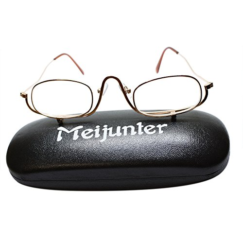 Meijunter Metallrahmen Brillen Make up Lesebrille Makeup Lesebrillen für Frauen(Stärke:+1.5)