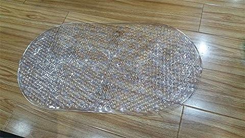 DIDIDD Bad Slip-Proof Matte Toilette Duschmatten Hotel Bad Saugfüße Massage Pads Blister Transparent,Die transparente Farbe, 69X38Cm
