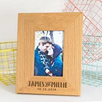 Personalised Wedding Anniversary Picture Frame/Engagement Photo Frame/Personalised Engagement gift for Couples/Cute Couple Photo Frame
