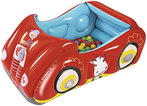 Fisher Price Voiture de Course gonflable 119 x 79 h 51+ balles