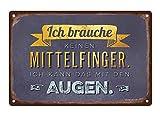 Grafik-Werkstatt 60727 Wand-Schild | Vintage-Art |Ich Brauche Keinen...
