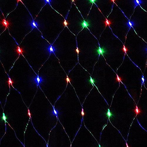 Red con luces LED HJ® para fiestas, Navidad, jardín, Halloween, bodas, luces de decoración