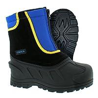 Itasca Unisex-Kids Youth Stomper Leather/Nylon Winter Snow Boot, Royal Blue/Black, 3.0 Standard US Width US Big Kid