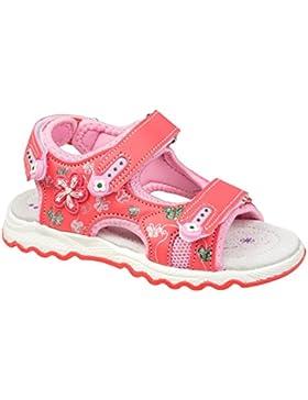 GIBRA® Sandalen für Kinder, mit Lederfußbett, lachs, Gr. 26-31