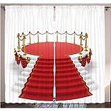 WKJHDFGB Home Decor Concerto Teatro Stage Tende Argento Oro Cafe Tende per Sala da Pranzo Camera da Letto Soggiorno Bambini E Teen Camere Tende,215X320Cm