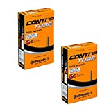 2 x Continental Bike Inner Tube Race 28 700 20 25 Presta 42mm cycle valve by Continental
