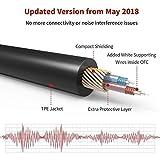 iVanky Aux Kabel, 3,5mm Audio Kabel, 1,2 M/2-Pack (Kupferhülse/Hi-Fi Sound), Klinkenkabel klinkenstecker kompatibel mit Kopfhörer Beats Bose, Echo dot, Smartphones, MP3 Player und mehr - Schwarz - 2