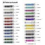 Creativgravur Aluminium - Kugelschreiber Cosmo Lasergravur Sortenrein o. Gemischt Einheitl. Gravur 26 Farben - Menge:200 Stück
