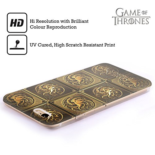Offizielle HBO Game Of Thrones All Houses Golden Sigils Soft Gel Hülle für Apple iPhone 6 Plus / 6s Plus Targaryen