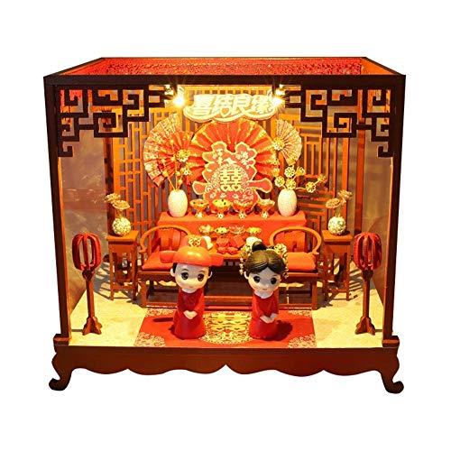 LIJUMN Casa delle Bambole Cinese Weding, Cerimonia di Nozze Classica, Storia d'Amore Romantica per I Regali di Compleanno di San...
