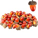 Sumind 70 Pezzi Artigianato Ghiande Artificiali Ghianda Decorazione Finta Frutta Puntelli Ghiande Decorazione per Fai Da Te Casa Festa Festival