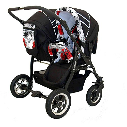 Zwillingskinderwagen Freestyle Twins 2in - 6
