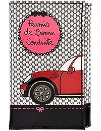 """Porte-papiers de voiture """"Bonne Conduite"""" - noir/rose - DLP"""