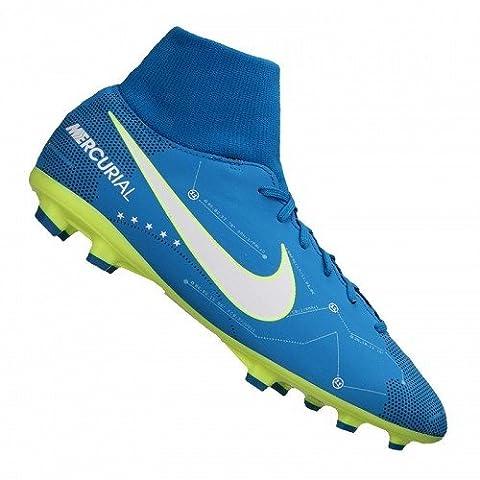 Nike Unisex-Kinder Jr Mercurial Victory VI DF SX FG Fußballschuhe, Blau (Blue Orbit/White-Armory Navy), 38.5