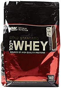 Optimum Nutrition Gold Standard Whey Protein Powder with Glutamine and Amino Acids. Protein Shake by ON - Double Rich Chocolate, 149 Servings, 4.54kg