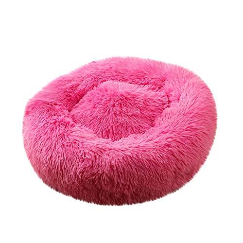 EUZeo Deluxe Haustierbett für Hunde und Katzen Mehrfarbig Hundebett Katzenbett Flauschige Rund Katzensofa Hundesofa